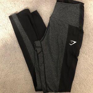 Gymshark mid rise black leggings small